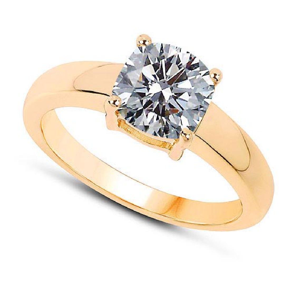 Certified .75 CTW Round Diamond 14K Yellow Gold Ring