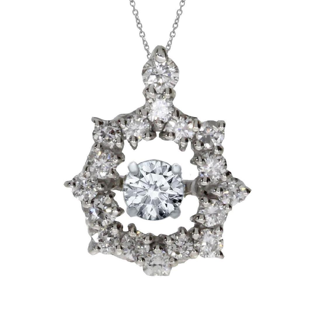 Certified 14K White Gold Diamond Dashing Diamonds Penda