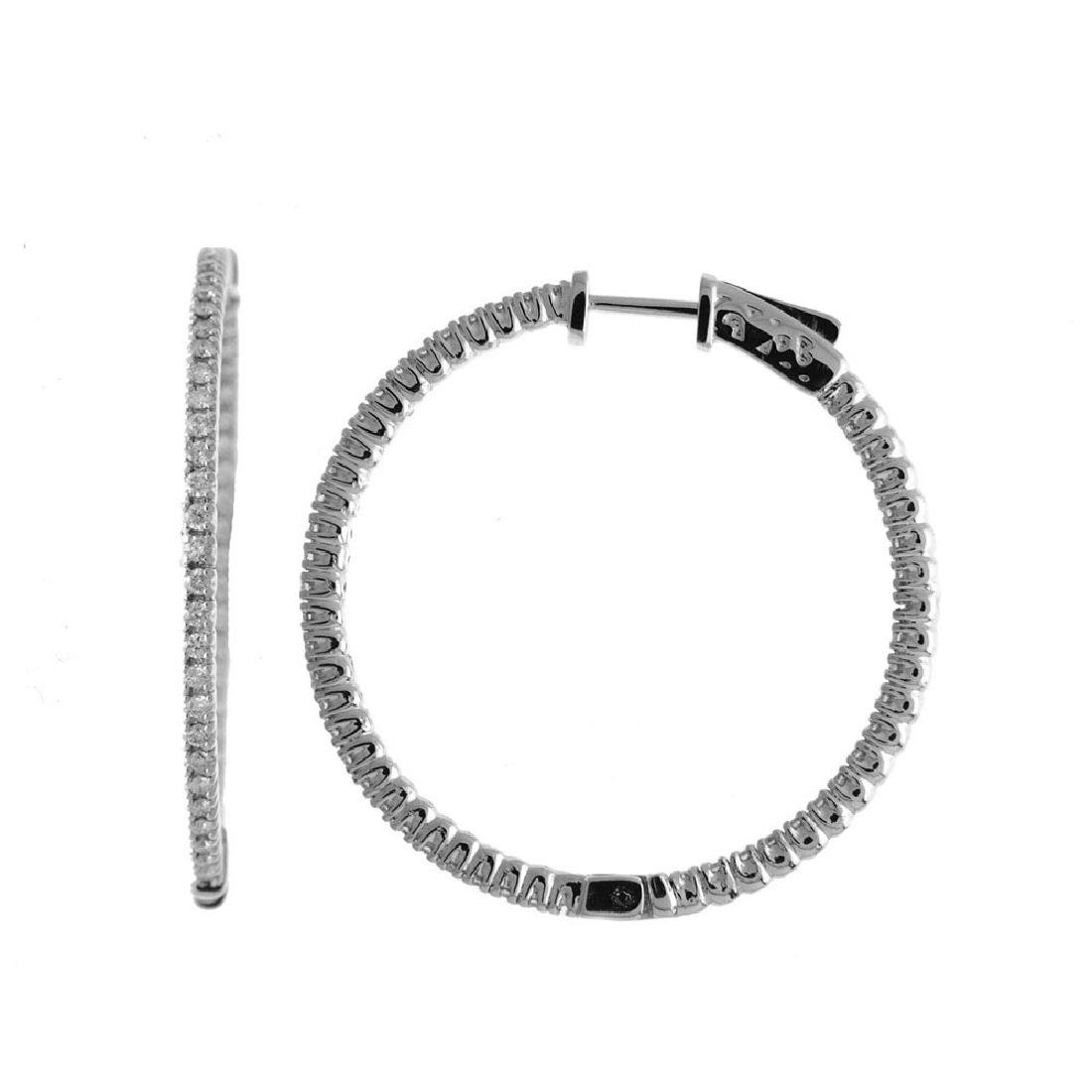 Certified 14K 1ct White Gold Diamond Secure Lock 35 mm