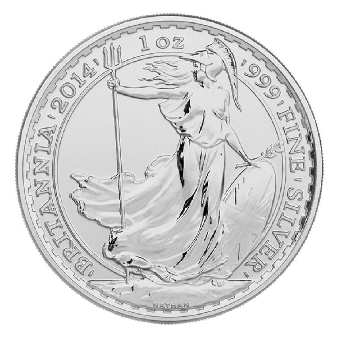 Uncirculated Silver Britannia 1 oz 2014
