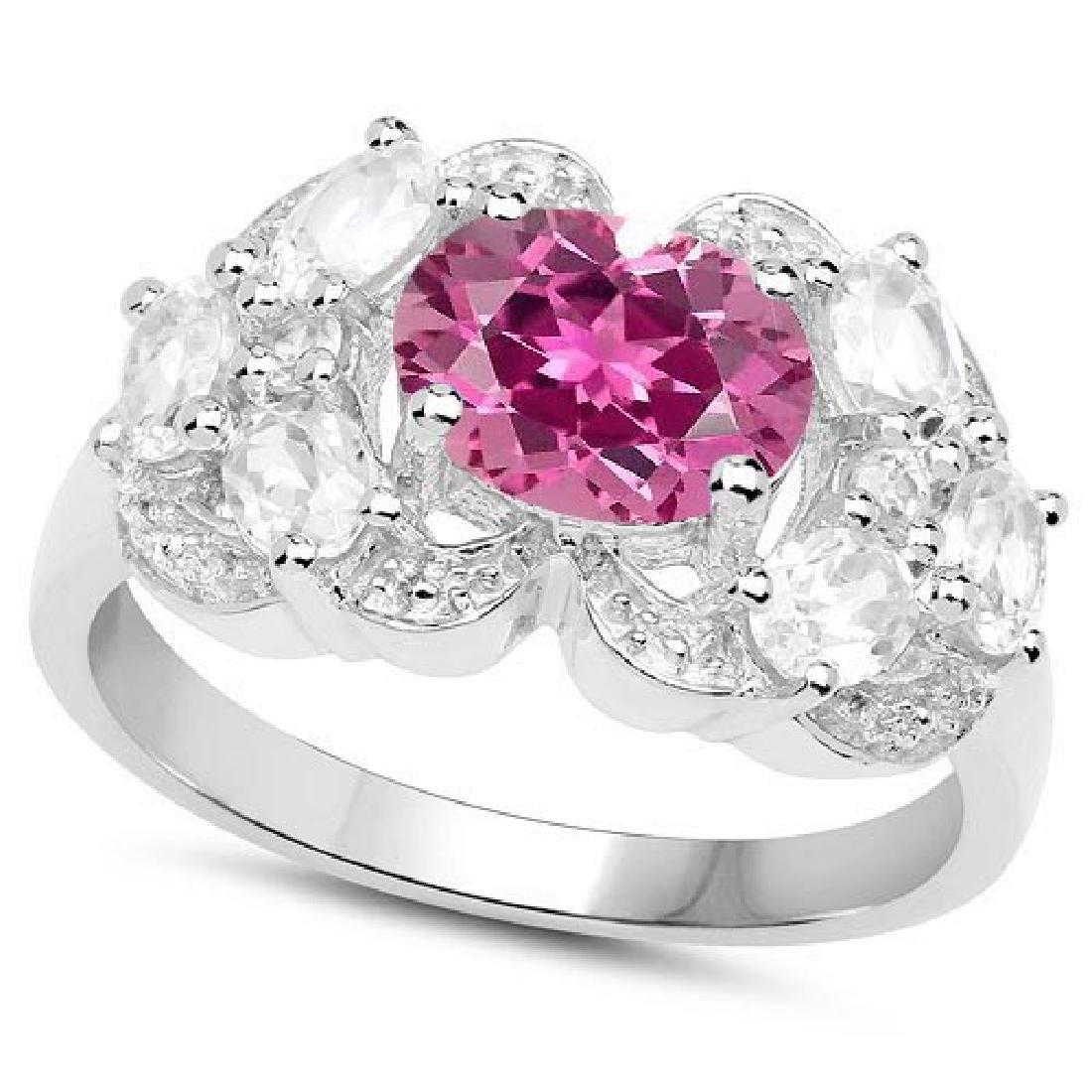Certified 1.10 Ctw. Genuine Pink tourmaline And Diamond