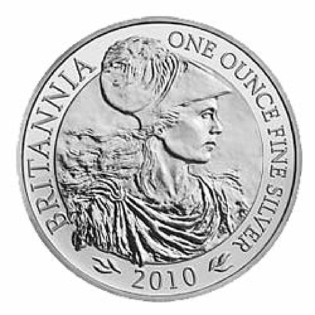 Uncirculated Silver Britannia 1 oz 2010