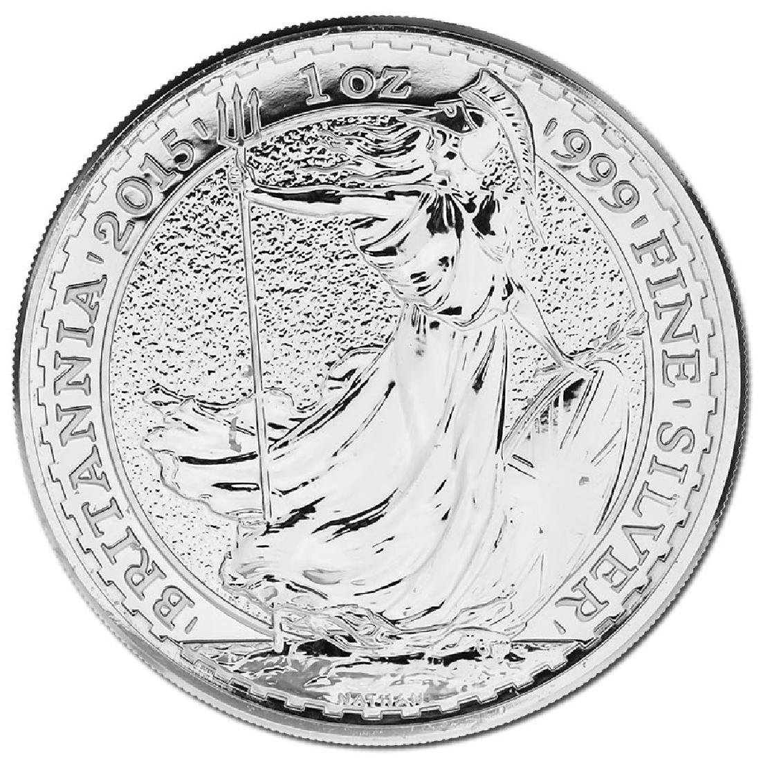 Uncirculated Silver Britannia 1 oz 2015