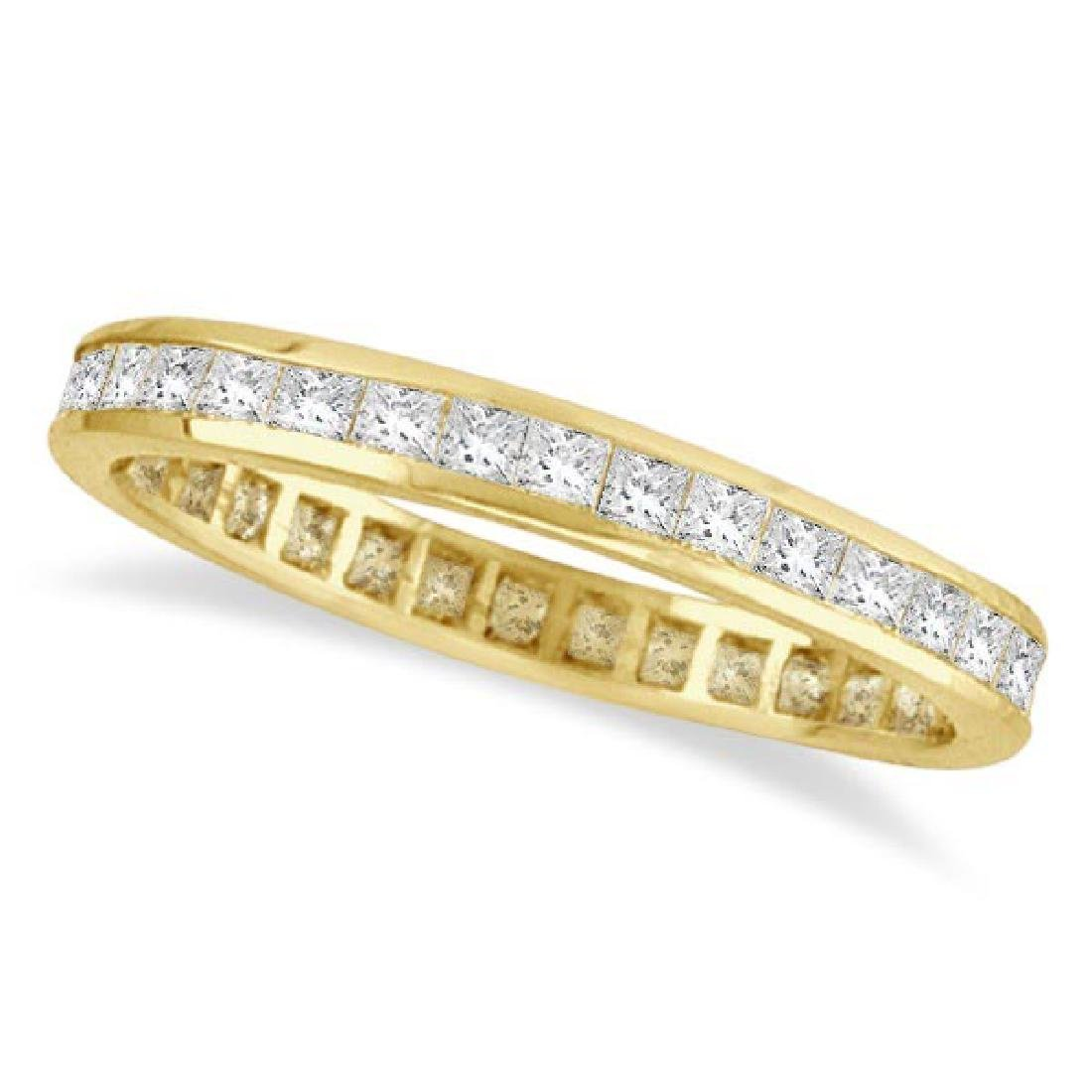 Princess-Cut Diamond Eternity Ring Band 14k Yellow Gold