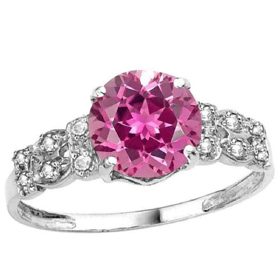 Certified 1.18 Ctw. Genuine Pink tourmaline And Diamond