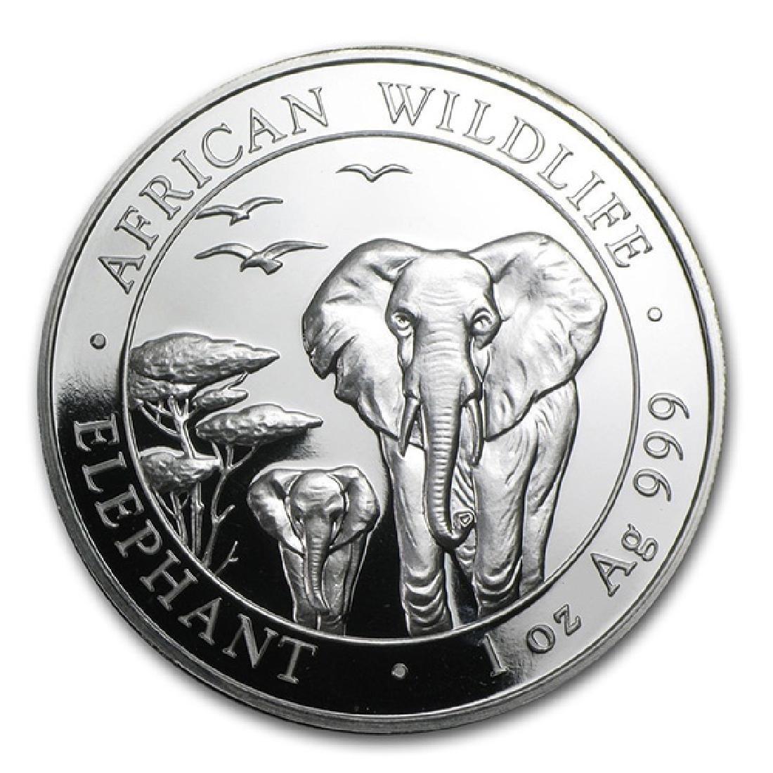 Somalia 1 oz Silver Elephant 2015
