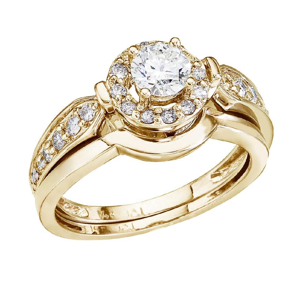 Certified 14K Yellow Gold .75 CTW Round Diamond Band Br