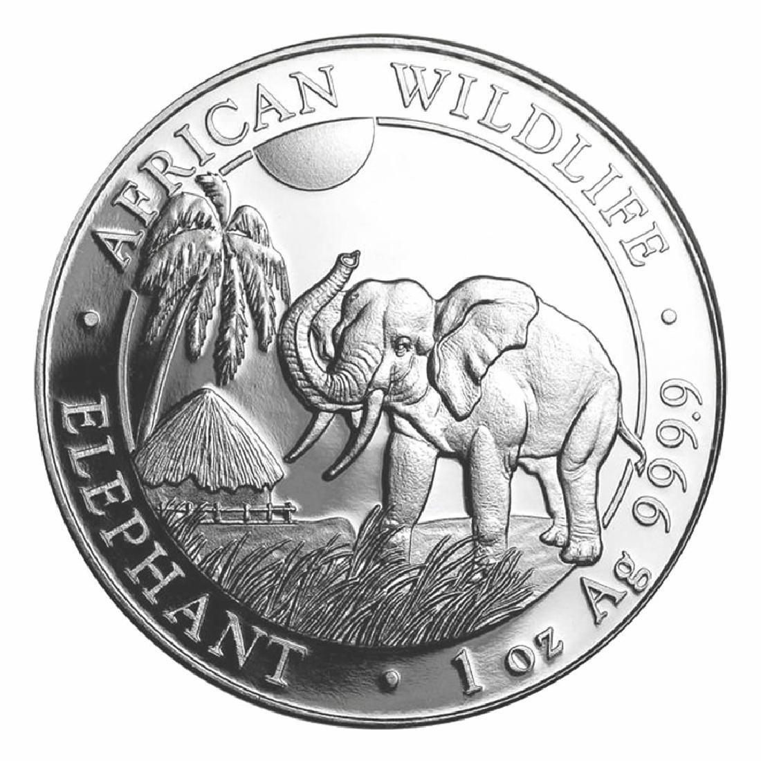 Somalia 1 oz Silver Elephant 2017