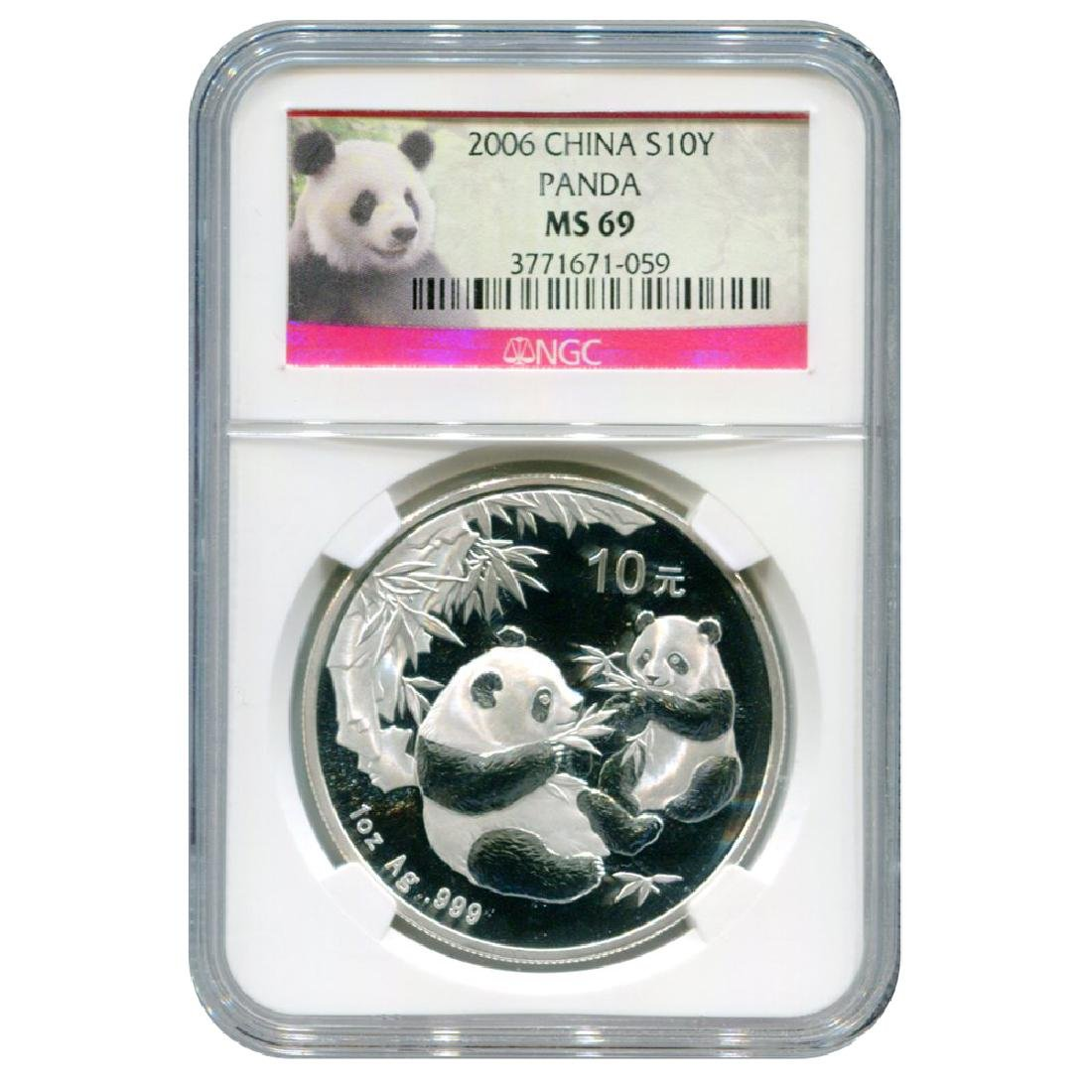 Certified Chinese Silver Panda One Ounce 2006 MS69 Pand