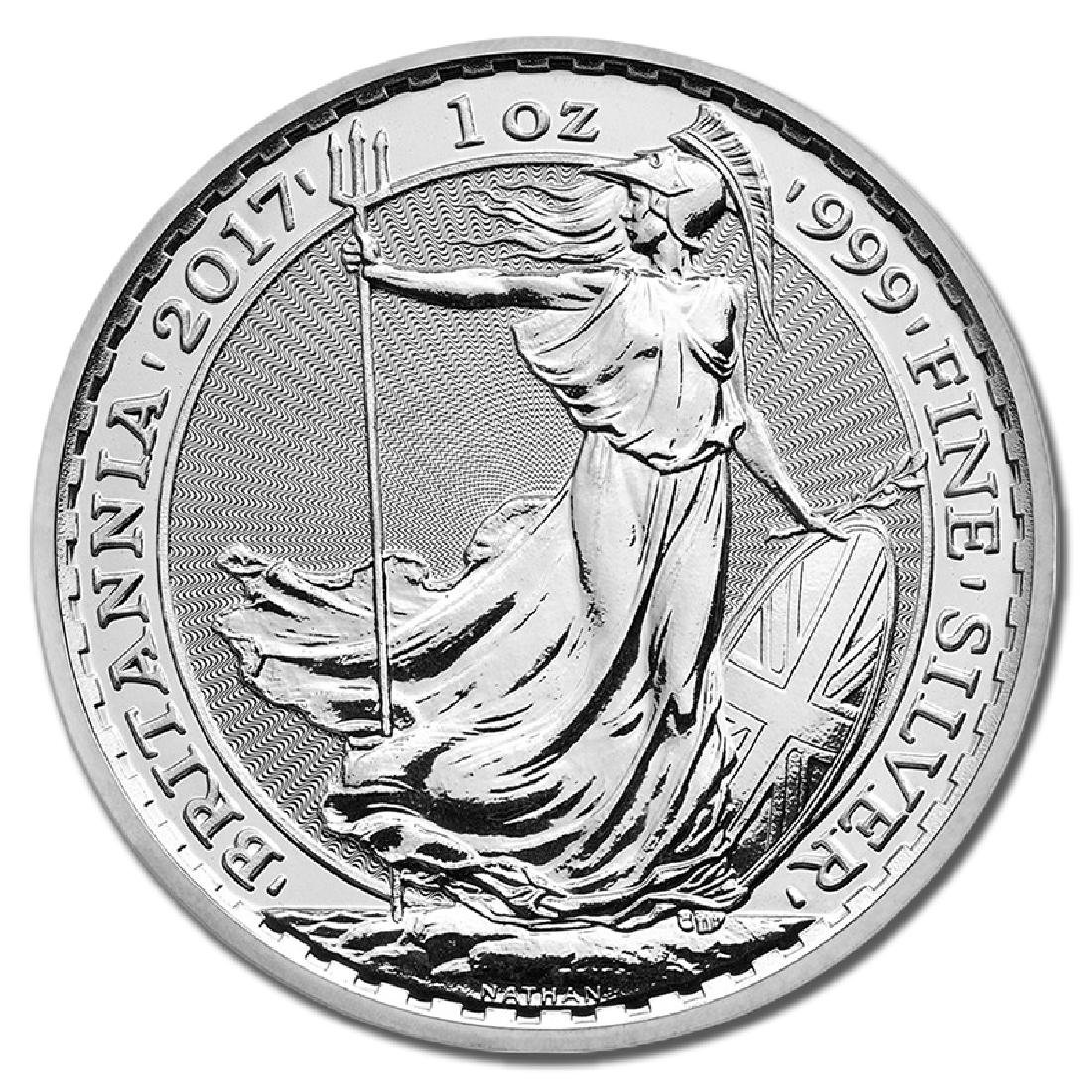 Uncirculated Silver Britannia 1 oz 2017