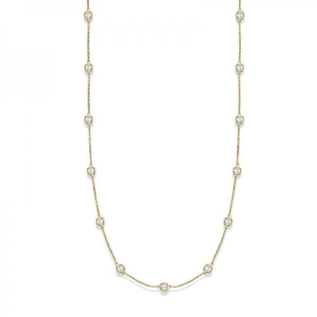 36 inch Diamonds by The Yard Station Necklace 14k Yello