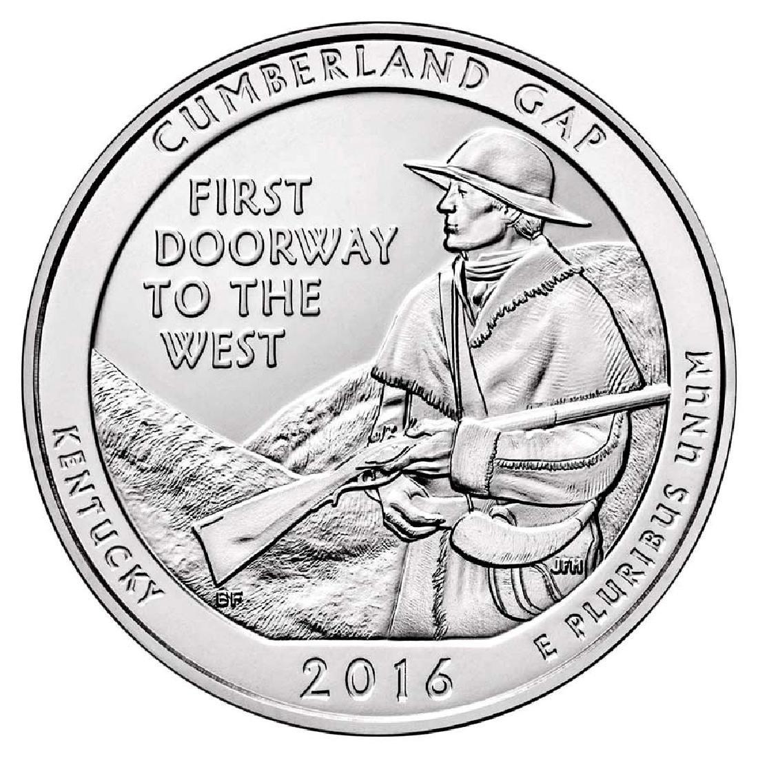 2016 Silver 5oz. Cumberland Gap National Historical Par