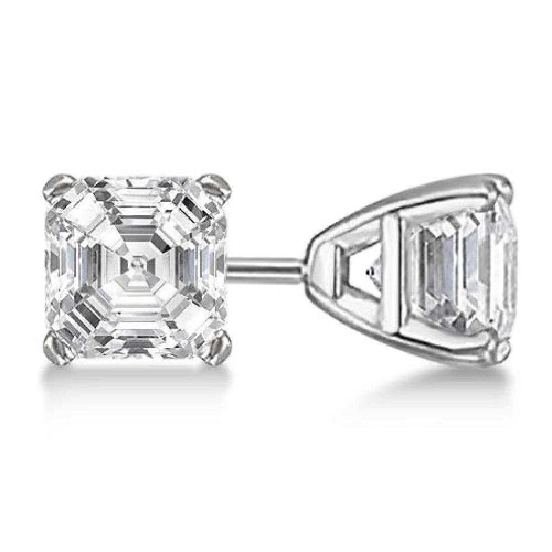 Dangle Christian Diamond Cross Earrings 14K White Gold