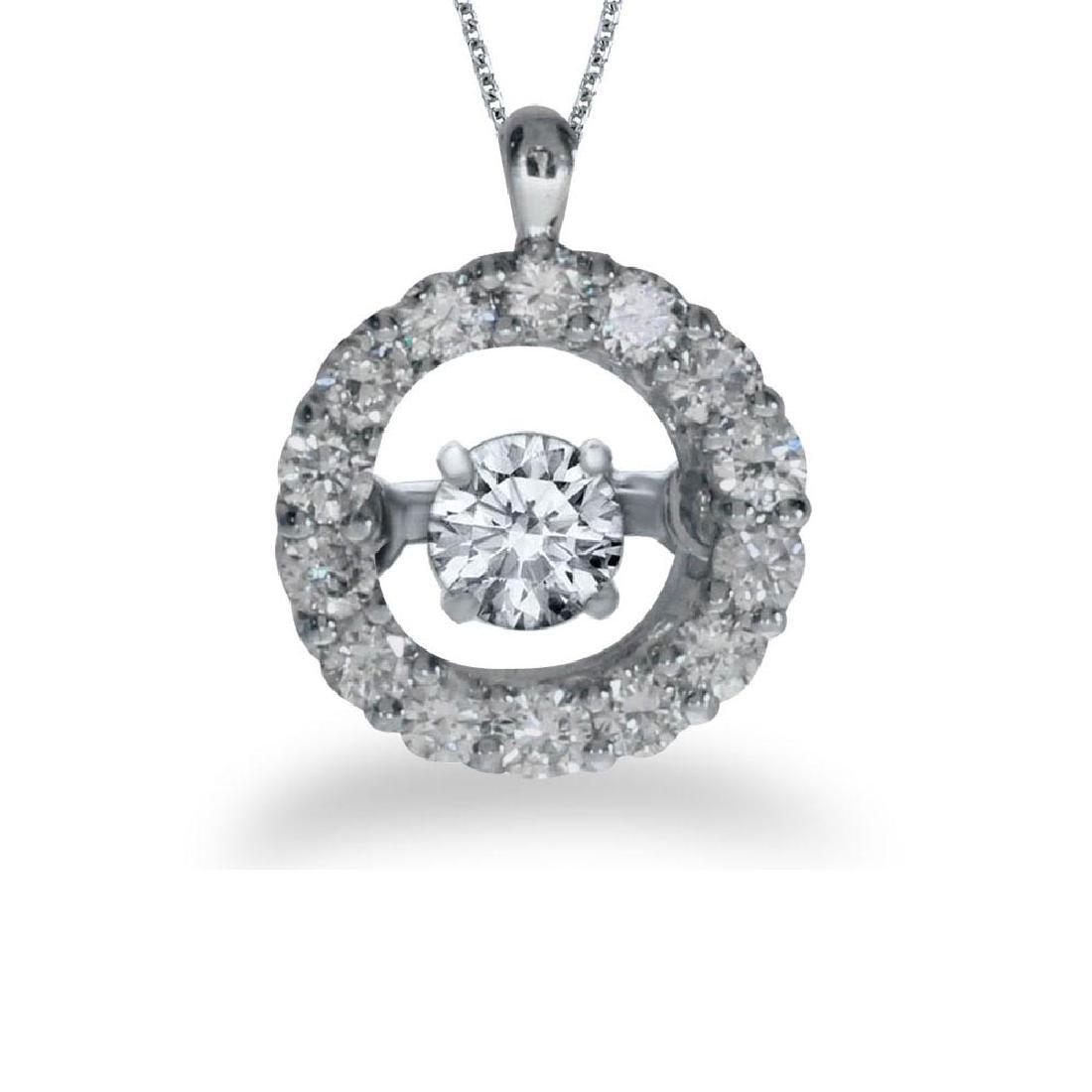 Certified 14K White Gold Dashing Diamonds Heartbeat Pen