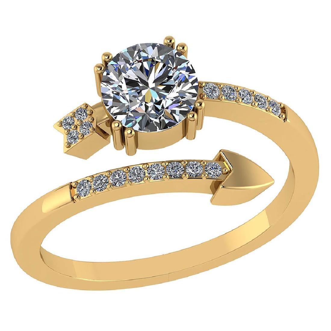 Certified .70 CTW Round Diamond 14K Yellow Gold Ring