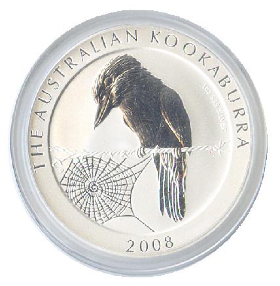 Australian Kookaburra 1 oz. Silver 2008