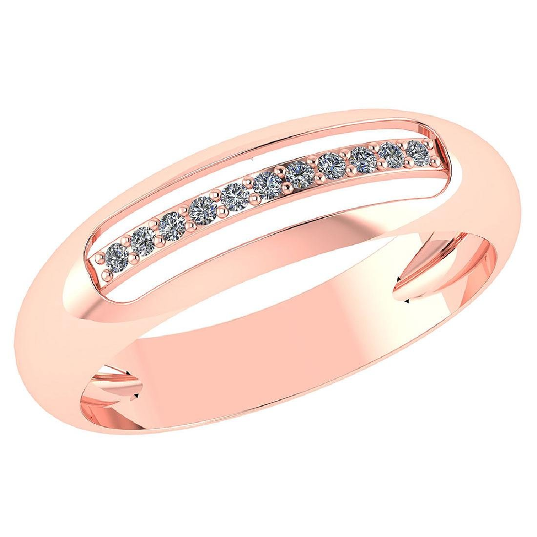Certified .07 CTW Diamond Genuine 14K Rose Gold Engagem