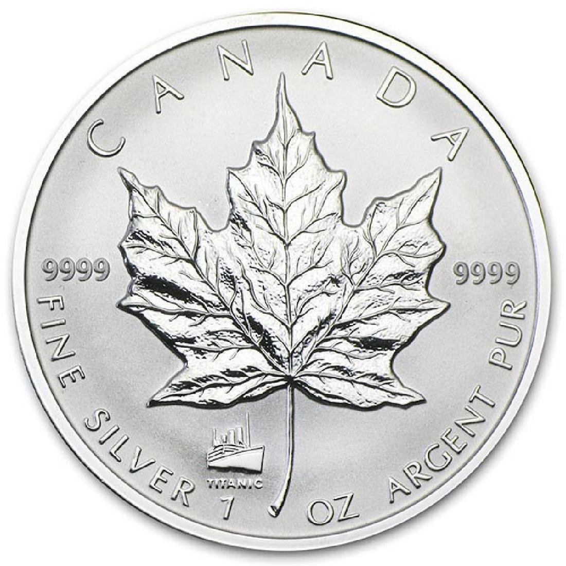 2012 Canada 1 oz. Silver Maple Leaf Reverse Proof Titan