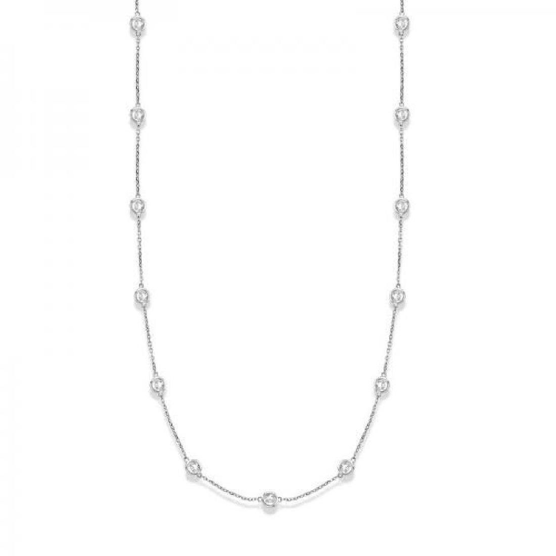 36 inch Diamonds by The Yard Station Necklace 14k White