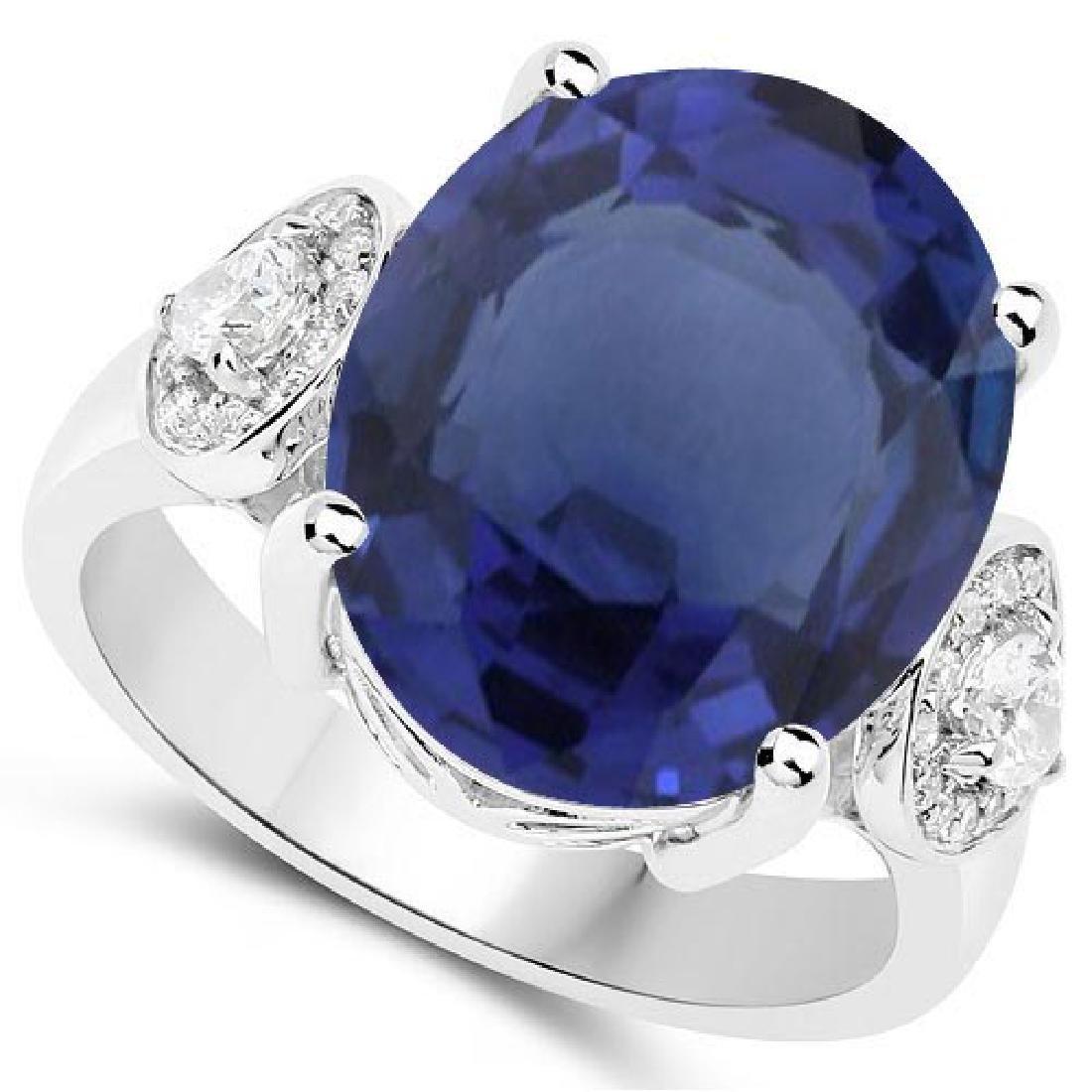 Certified 1.60 Ctw. Genuine Blue Sapphire And Diamond 1