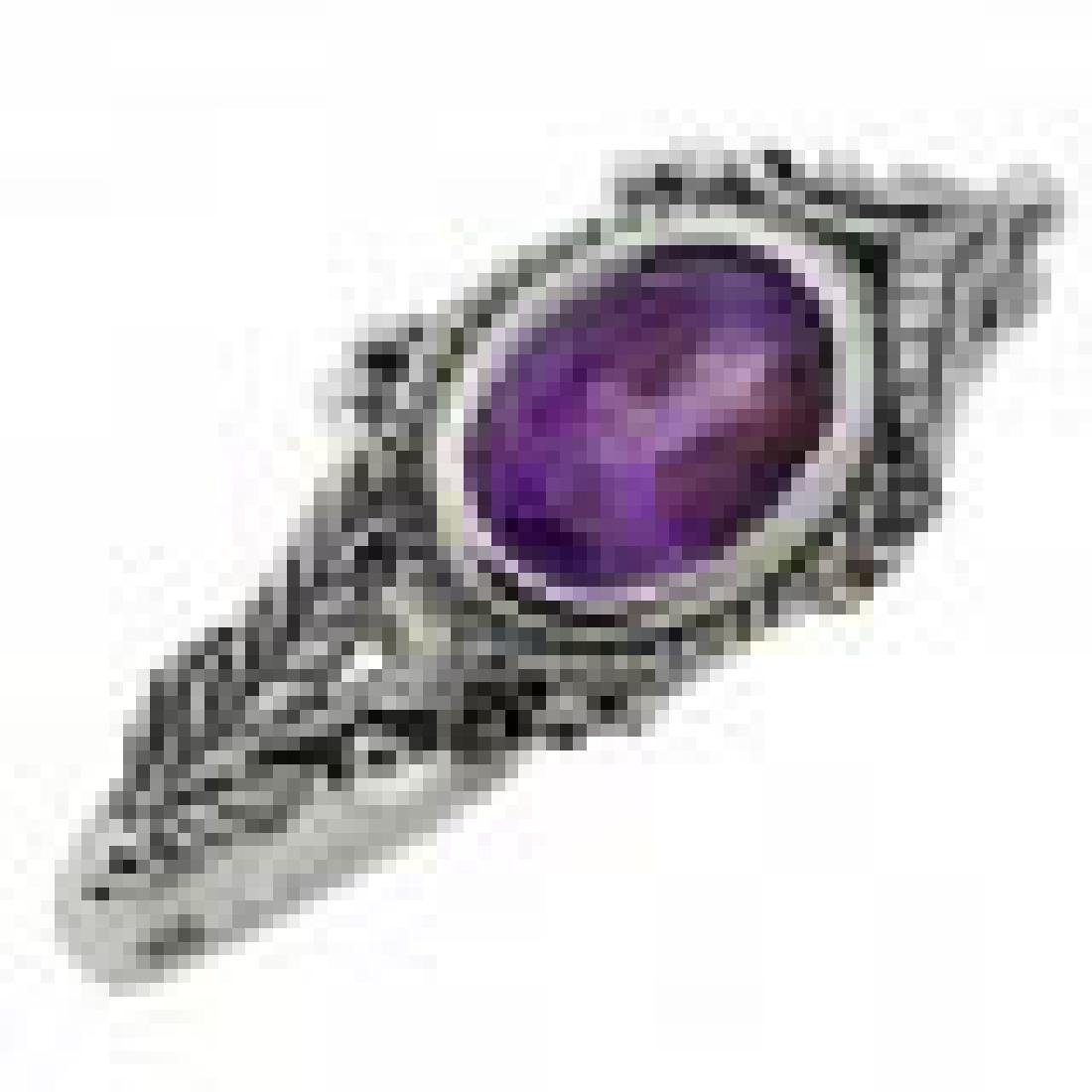 Amethyst Ring - Sterling Silver