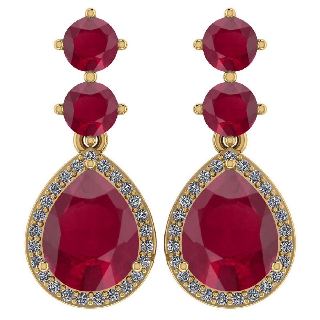 Certified 5.17 Ctw Ruby And Diamond 14k Yellow Gold Hal