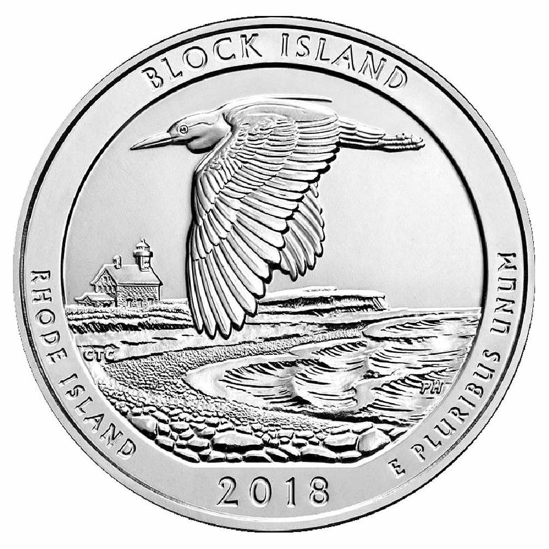 2018 Silver 5oz. Block Island National Wildlife Refuge