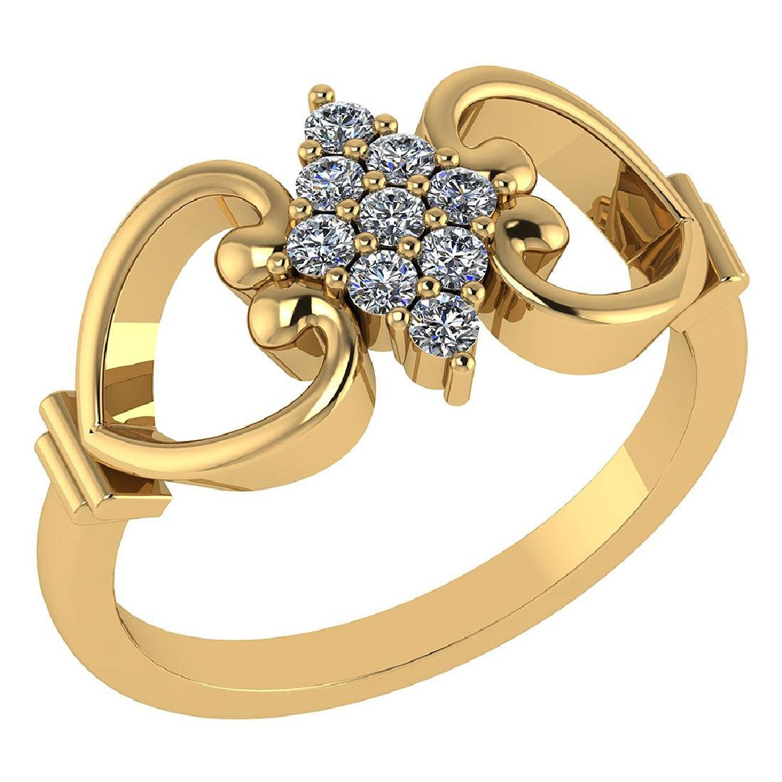 Certified .27 CTW Diamond Genuine 14K Yellow Gold Simpl