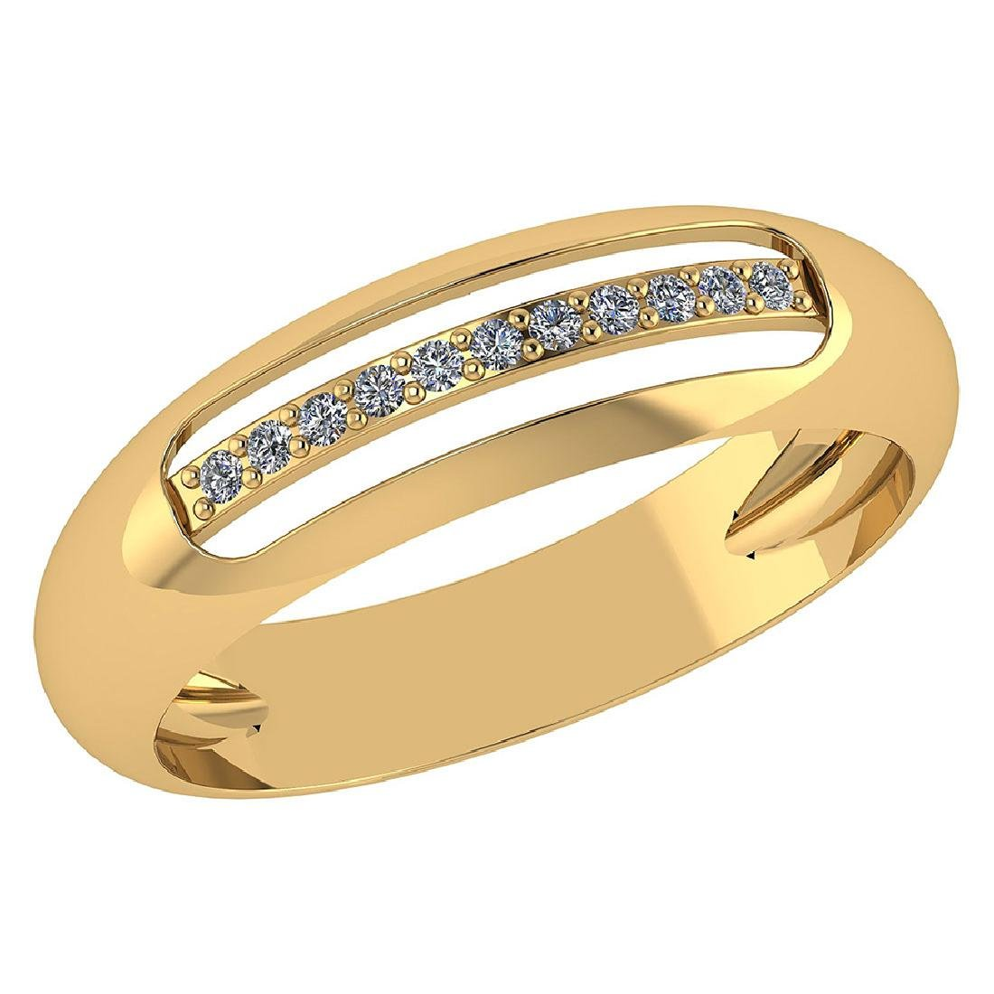 Certified .07 CTW Diamond Genuine 14K Yellow Gold Engag