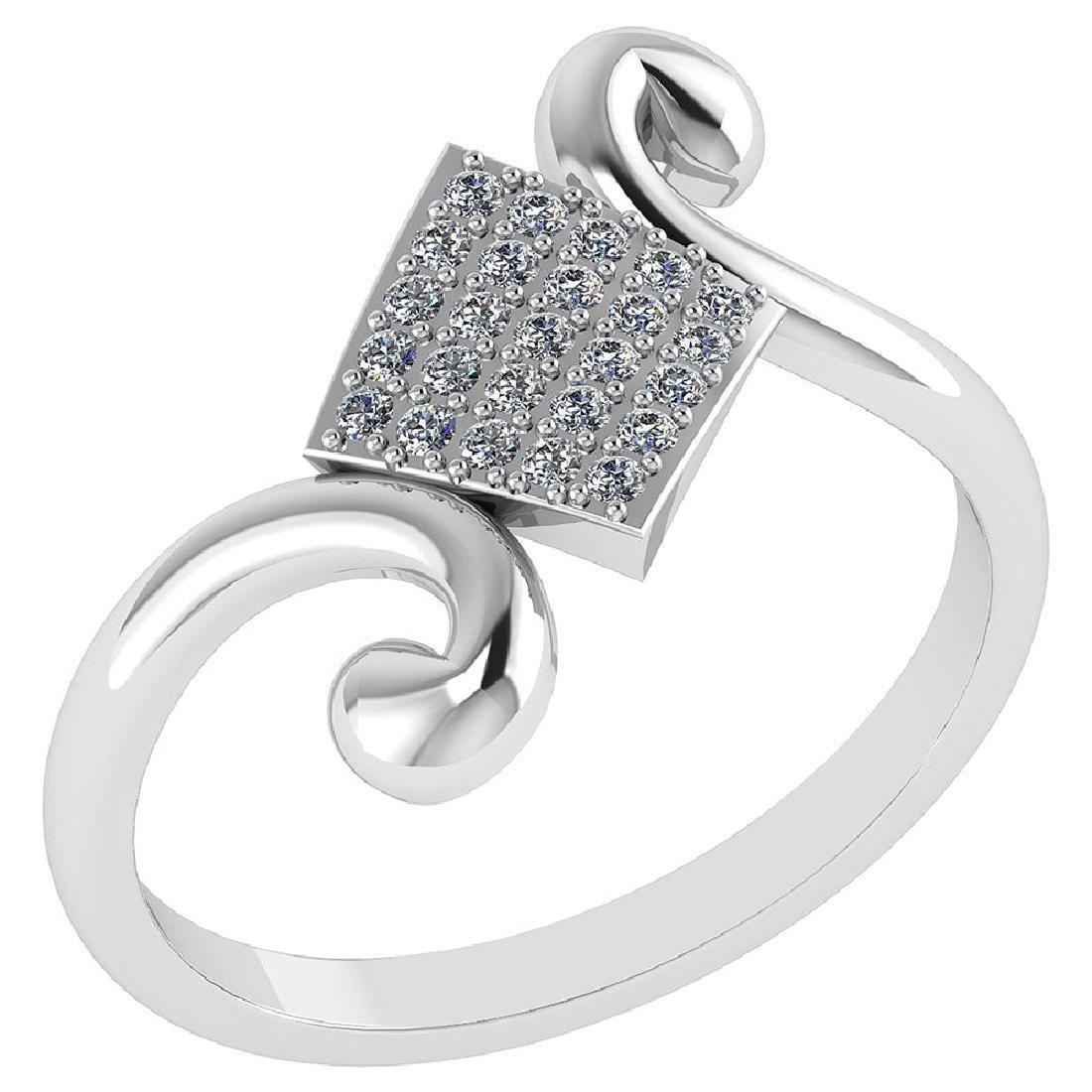 Certified .25 CTW Diamond Genuine 14K White Gold Simple