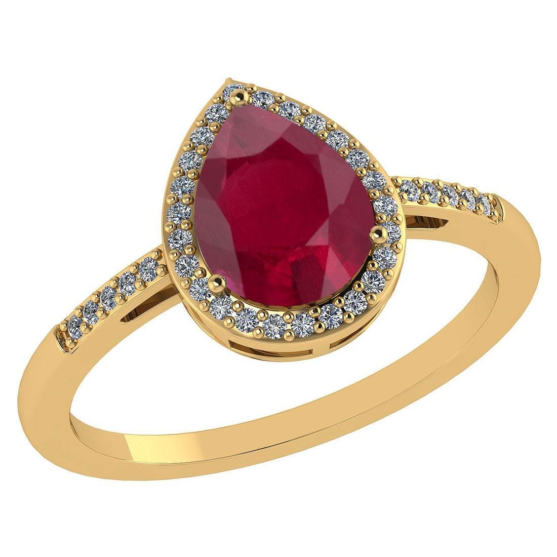 Certified 2.18 Ctw Ruby And Diamond 14k Yellow Gold Hal