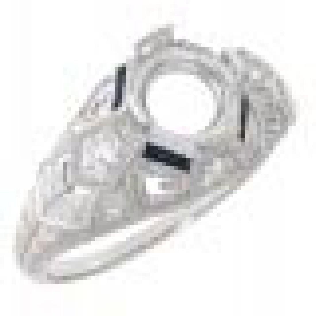 Art Deco Style Semi Mount Filigree Ring w/ Blue Sapphir