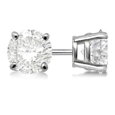 909179b2e ... White Gol · placeholder Certified 1 CTW Round Diamond Stud Earrings  D/SI2 ...