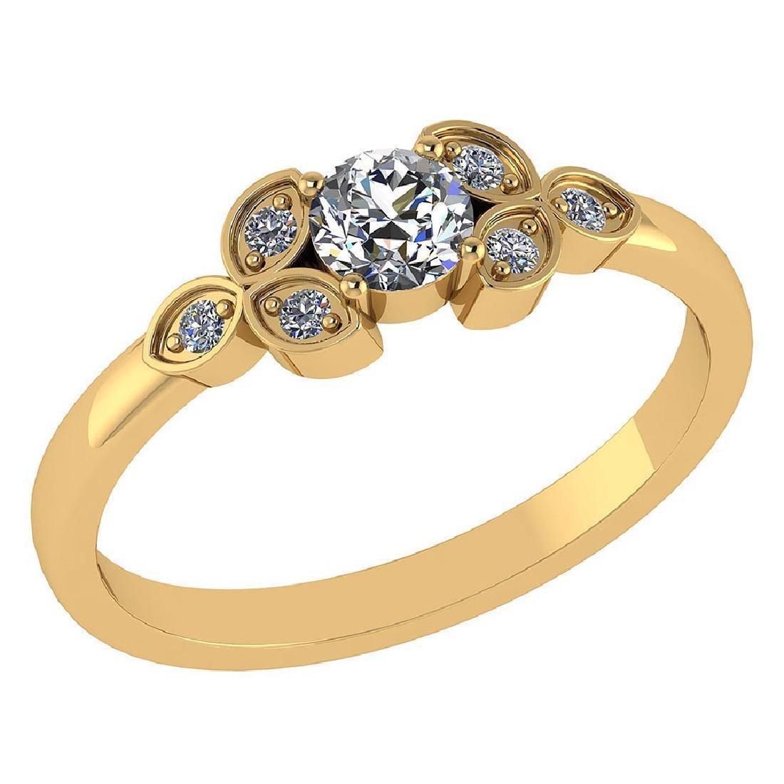 Certified .39 CTW Round Genuine Diamond (G-H/SI1-SI2) 1
