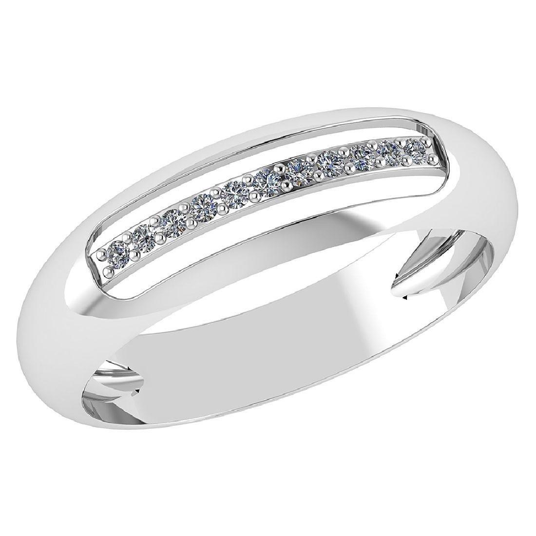 Certified .07 CTW Diamond Genuine 14K White Gold Engage