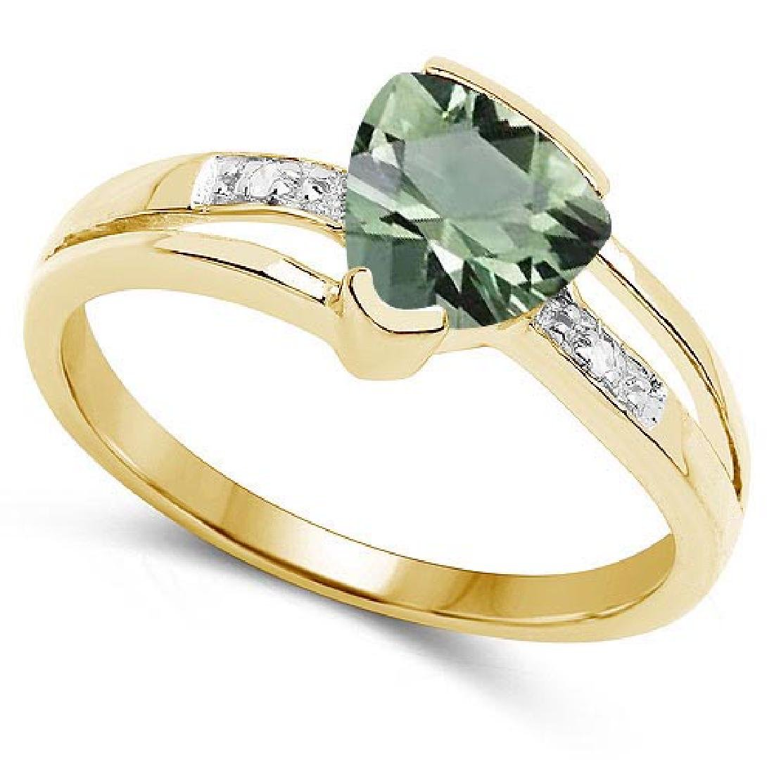 Certified 1.78 CTW Genuine Green Amethyst And Diamond 1