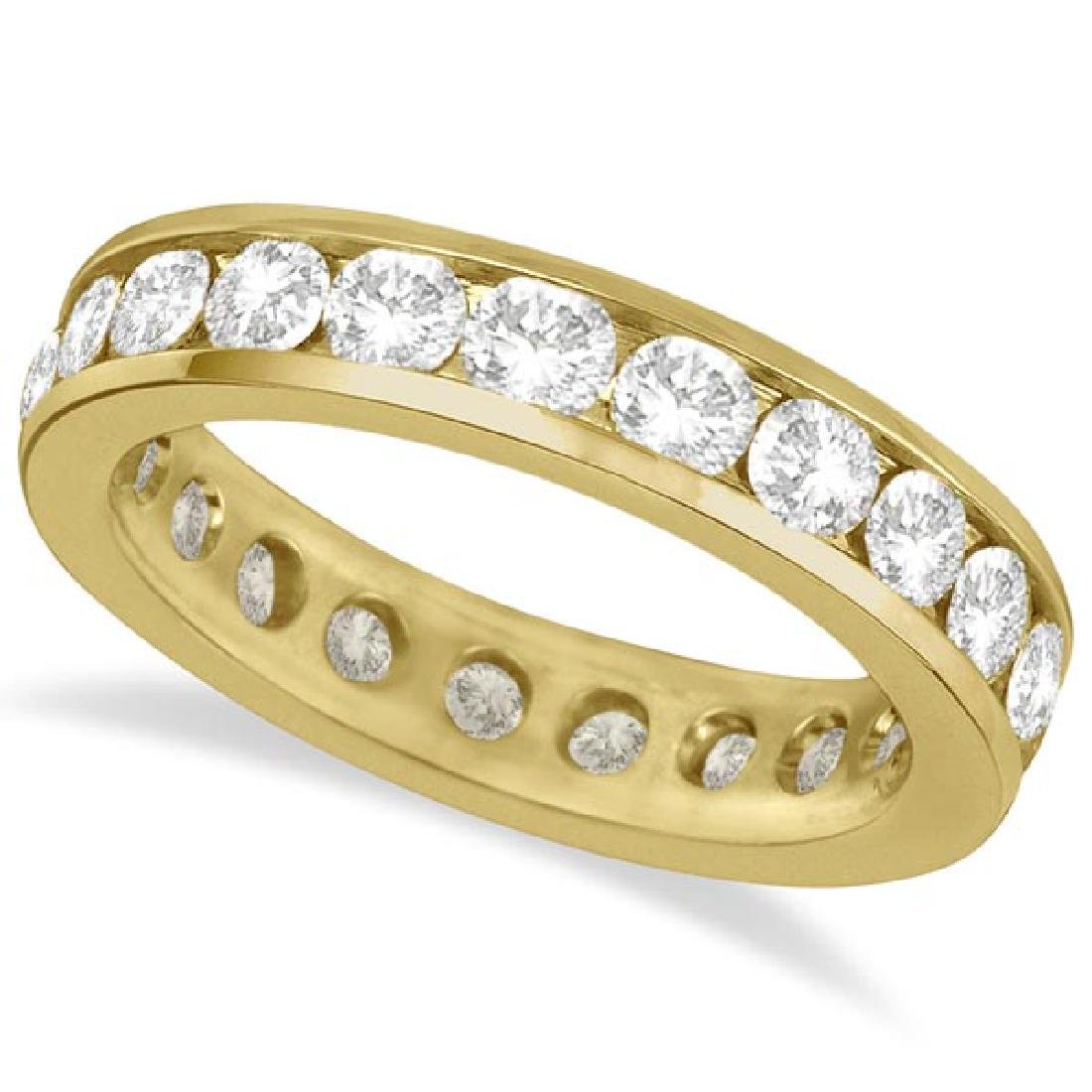 Channel-Set Diamond Eternity Ring Band 14k Yellow Gold