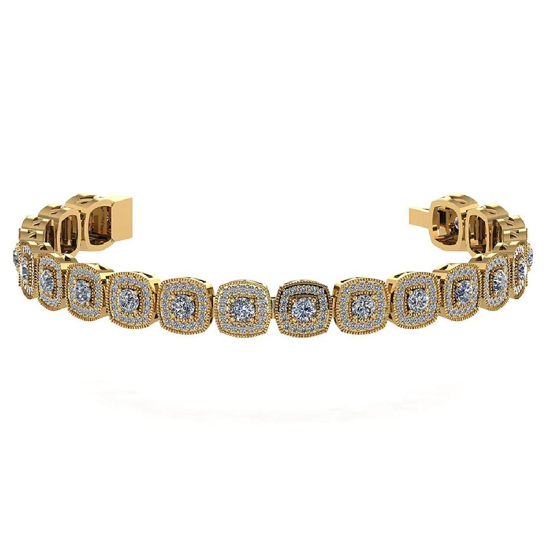 Certified 3.60 Ctw Diamond VS/SI1 Bracelet 14K Yellow G