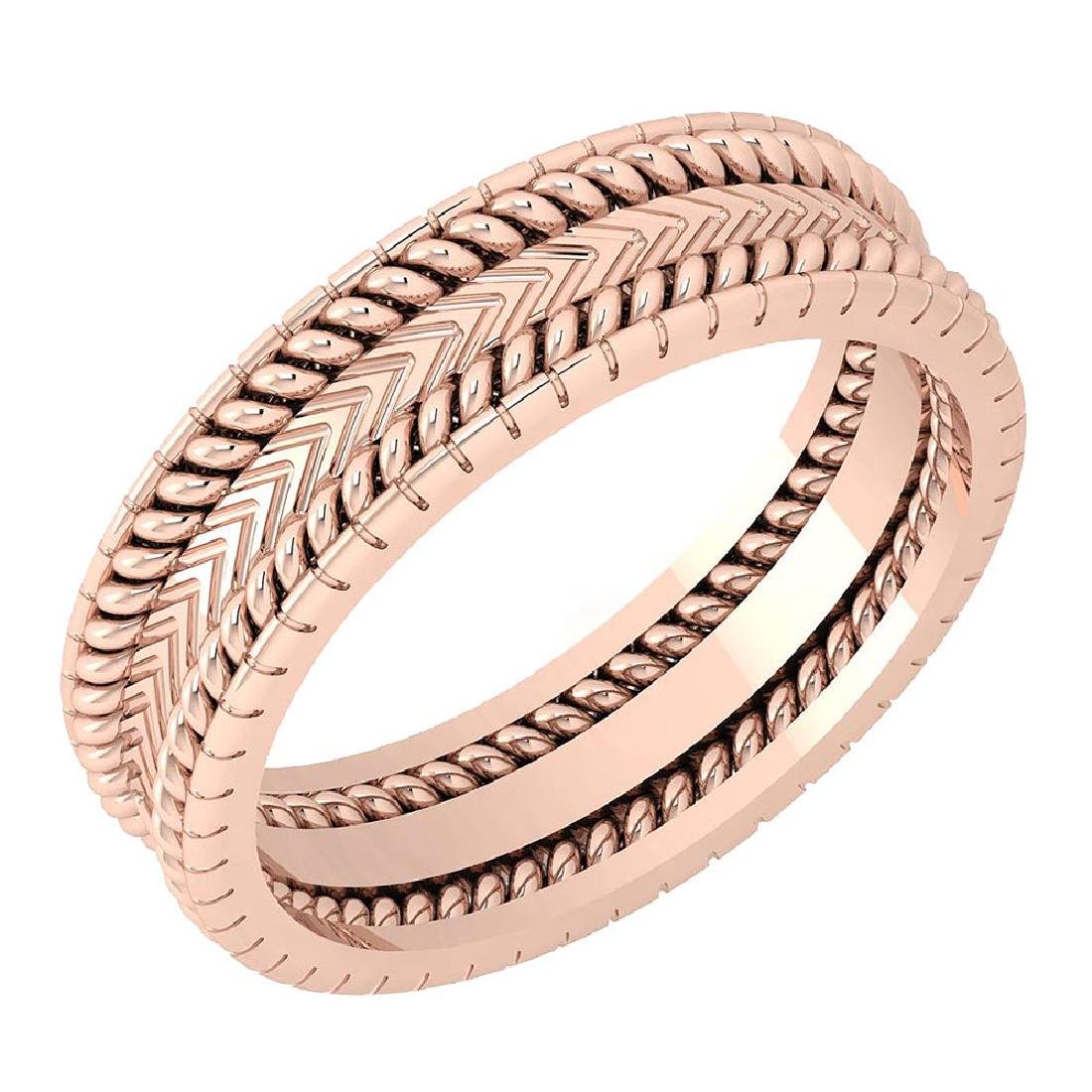 Stunning Filigree Engagement Band 18K Rose Gold MADE IN