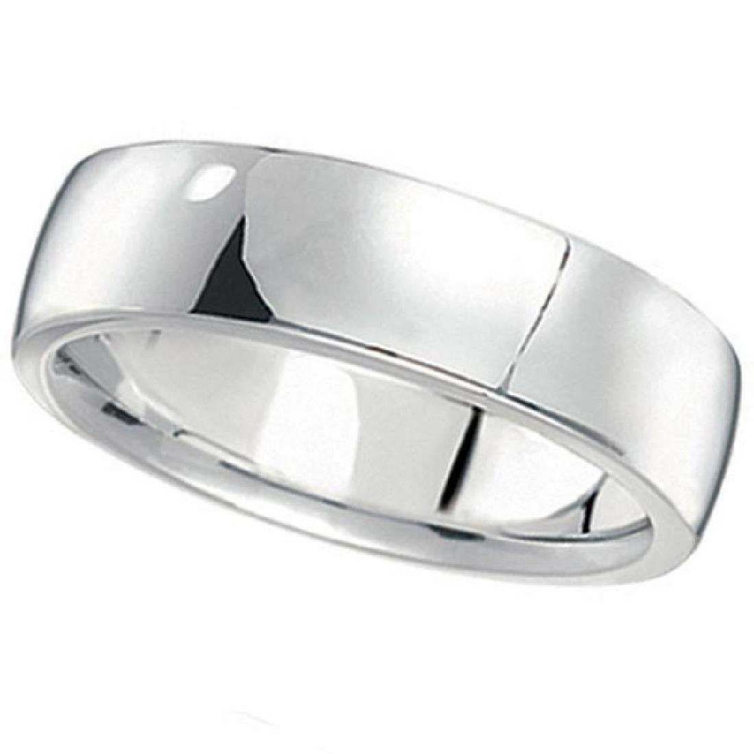 Mens Wedding Ring Low Dome Comfort-Fit in Palladium (6