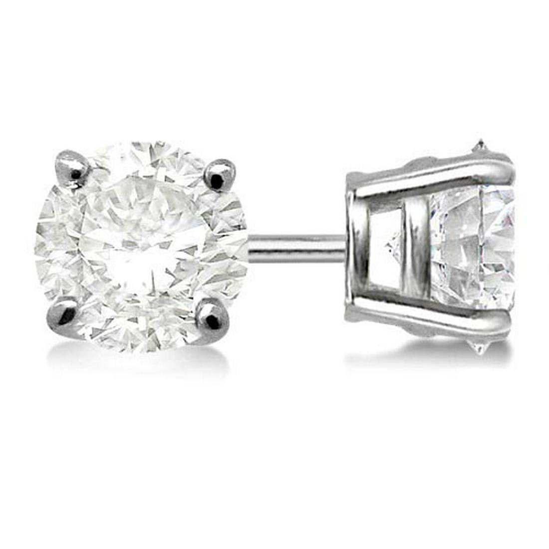 Certified 0.55 CTW Round Diamond Stud Earrings J/SI2