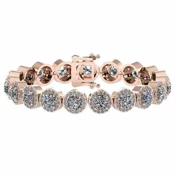 Certified 617 Ctw Diamond VSSI1 Bracelet 14K Rose Gol