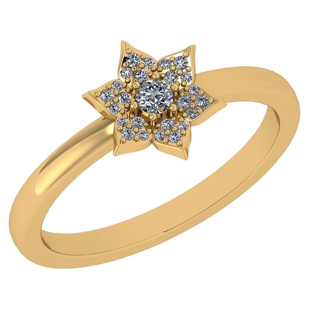 Certified .15 Ctw Diamond 14k Yellow Gold Engagement Ri