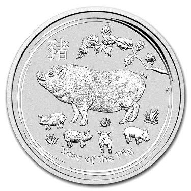 2019 Australia Kilo Silver Lunar Pig
