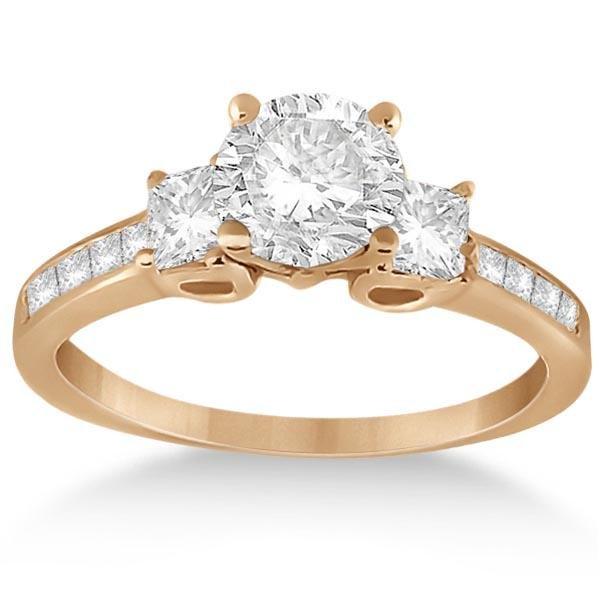 Three-Stone Princess Diamond Engagement Ring 14k 1.24ct
