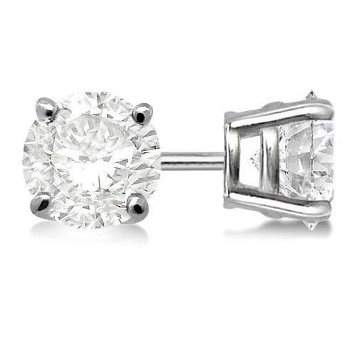 Certified 1.02 CTW Round Diamond Stud Earrings F/I3