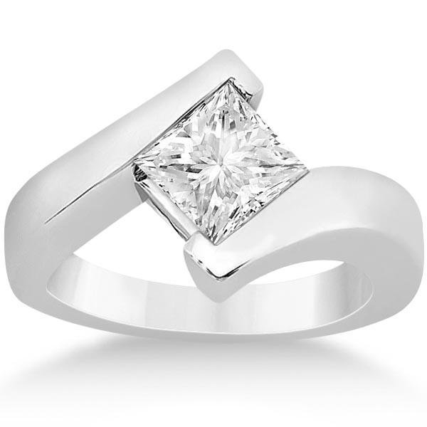 Princess Cut Tension Set Engagement Ring Setting 14k Wh