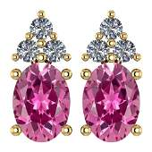 Certified 146 Ctw Pink Tourmaline And Diamond Wedding