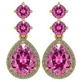 Certified 517 Ctw Pink Tourmaline And Diamond 14k Yell