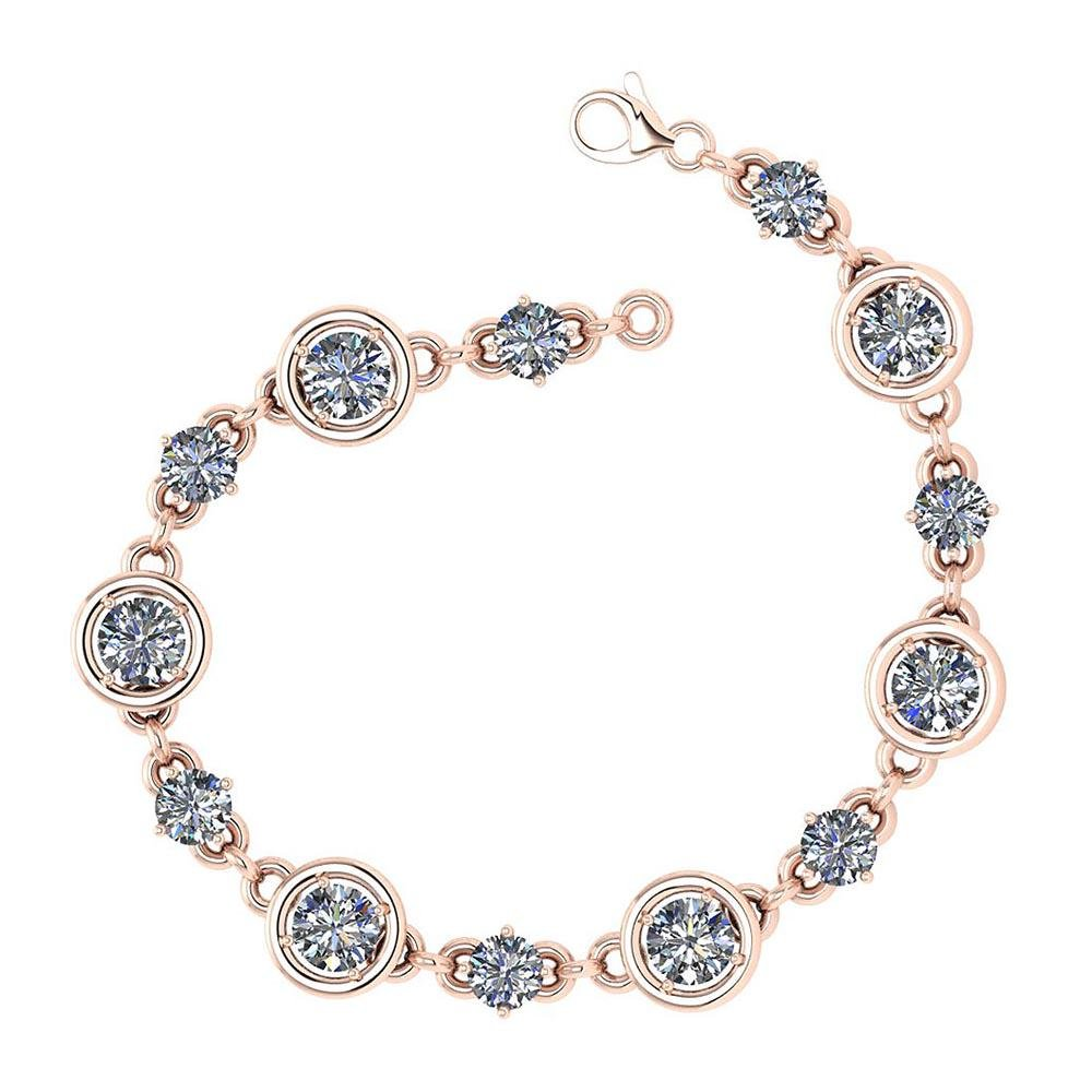 Certified 2.61 Ctw Diamond VS/SI1 Bracelet 14K Rose Gol